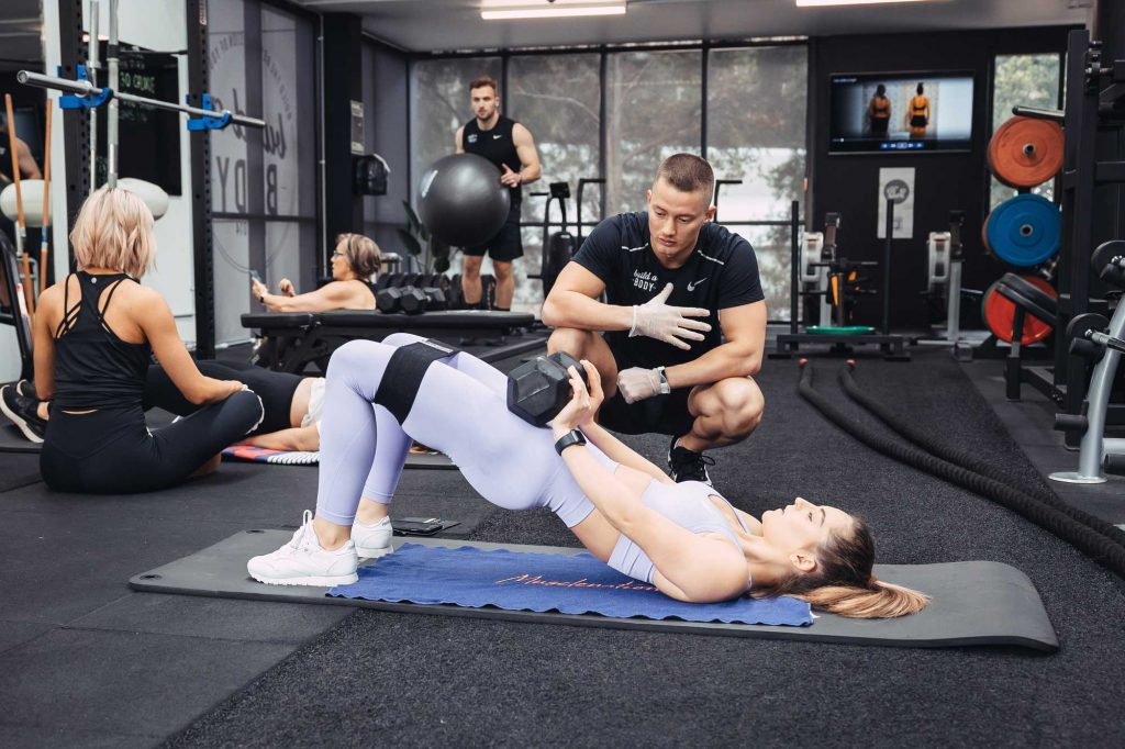 Personal training session at Build A Body gym